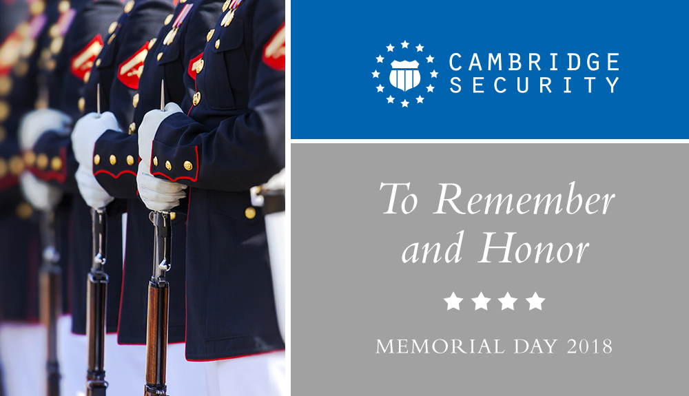 Memorial Day 2018 | Cambridge Security