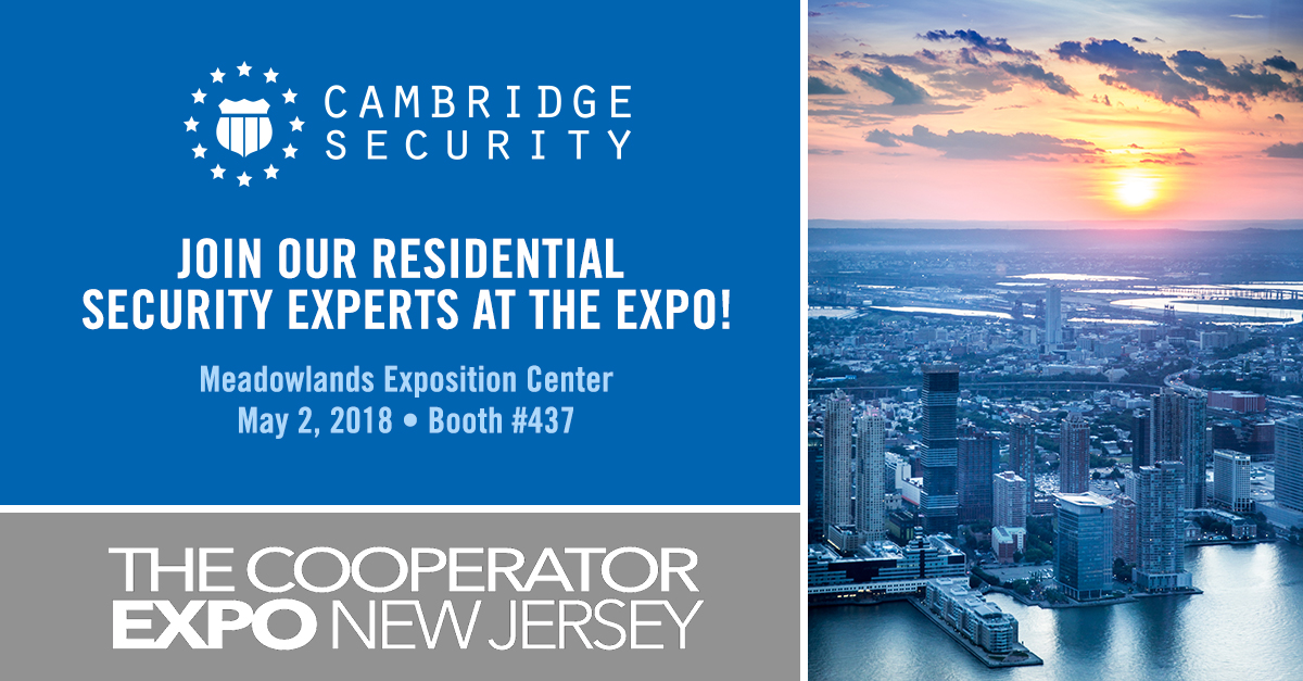 Cambridge Security at The Cooperator New Jersey, May 2, 2018